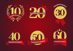 Årsdagen Logos vektor