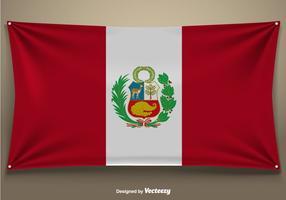 Perú Bandera del vector