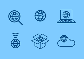 Con internet gratuito Logo Vector