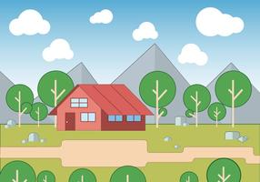 Gratis landskap Vector Illustration