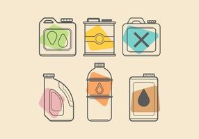 Colorful Oil Can Vectors