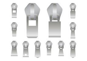 Zipper-Sammlung Vektor