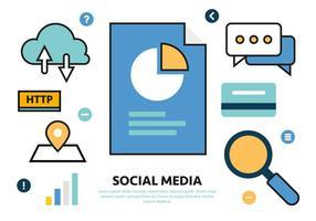 Livre de Ilustração de Social Media Vector