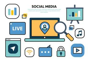 Gratuit Social Media Vector Illustration