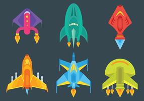 Free Starship Icons Vector