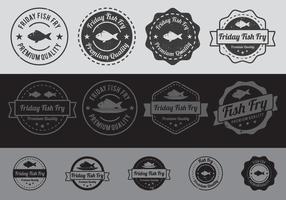 Fish Fry Badge vector