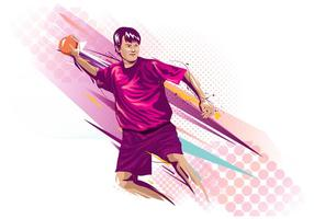 Abstract Dodgeball Player Background vector