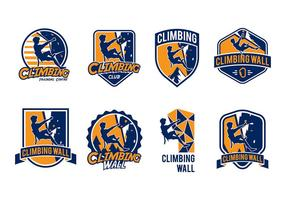 Climbing Wall Badge Vector