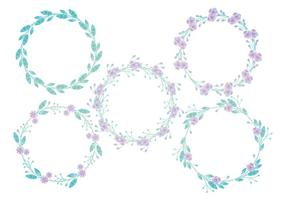 Coronas florales del vector