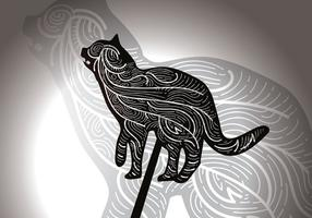 Fri Cat Shadow Puppet vektorillustration