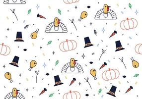 Gratis Thanks Giving Pattern Vector