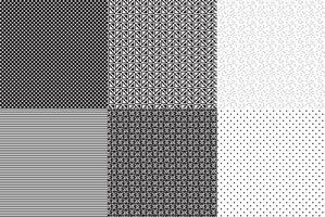 Naadloos zwart-wit Vector Patterns