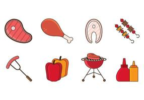 Brochette Icons Vector