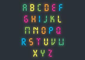 Bright Neon Letter Vector Pack