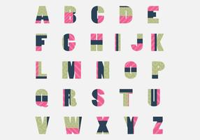 Trendy Patchwork Letras Vector Pack