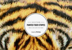Målade Tiger Mönster Bakgrund
