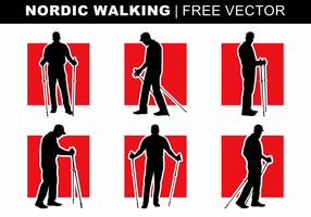 Nordic Walking Silhouetten Free Vector