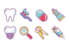 Dentiste gratuit Icon Set