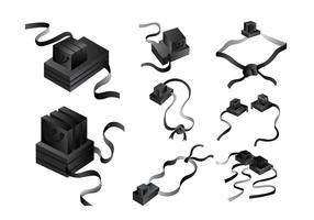 Black Leather Tefillin Vector