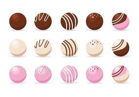 Trufas de chocolate Vector