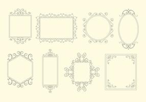 Scrollwork frames element vector