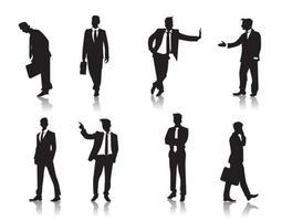 Stehen Männer Menschen Silhouetten Vektor