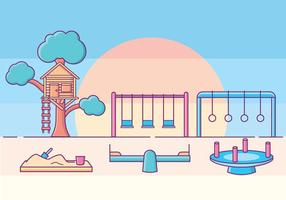 Barn Playground Illustration