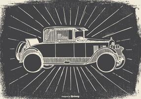 Flüchtiger Vintage Car Illustration