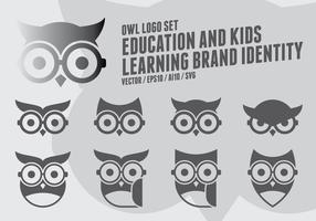 Logo Geek Owl vetor