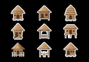 Vetor de ícones Cabana
