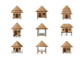 Cabana Iconos Vector