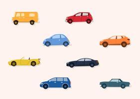 Planas vectores de coches