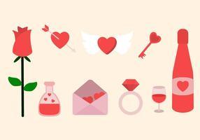 Flat Valentine Vectoren