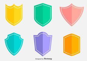 Blason Vector planas Icons