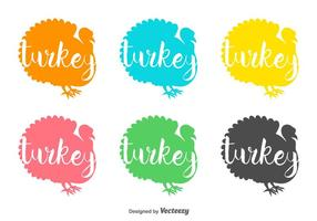 Wild Turkey Vector Badges