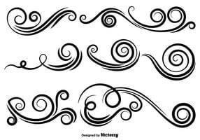 Vector Set Van Swirls