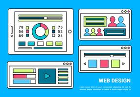 Free Web Layout Vector Background