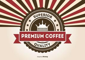 Retro Werbe Premium-Kaffee-Illustration