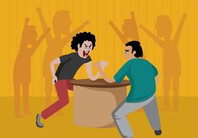 Free Arm Wrestling Illustration