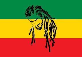 Dreads rastafari Vecteur libre