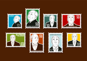 Hitchcock Stamps Vector