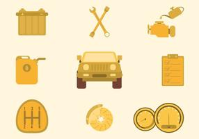 Amarillo libre Vectores Auto