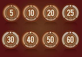 Anniversary Symbols Collection vector