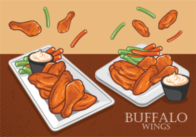 Buffalo Wings gratis Vector
