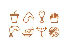 Lunch Meal Icon Vectors