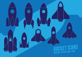 rocket-Set vektor