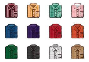 Dobladas camisa de franela Vectores