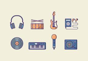 Pacote de vetores de música grátis