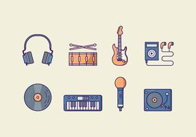 Pack de vectores de música gratis