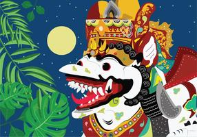 Decoratieve Barong Vector Art